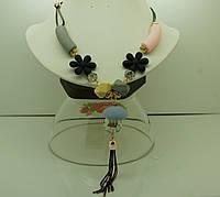 538 Матовые  длиной 60 см, стильные украшения на шею опт.