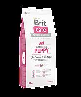 Brit Care Grain-free Puppy Salmon & Potato беззерновой корм для щенков всех пород, 12 кг