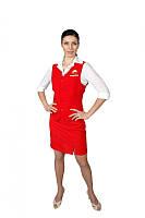 Униформа администратора, жилет и юбка, рабочая одежда женская, комплект женский рабочий