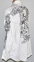 Рубашка качественная с вышивкой Ecko UNLTD (XXXL) Батал б\у