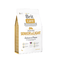 Brit Care Grain-free Senior & Light Salmon & Potato беззерновой корм для пожилых собак, 3 кг