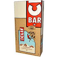 Clif Bar, Энергетические батончики с кокосом и кусочками шоколада, 12 батончиков, 2,4 унций (68 г) каждый
