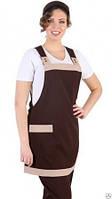 Форма горничной, для уборщицы, униформа продавца, рабочая одежда, фартук-накидка горничной