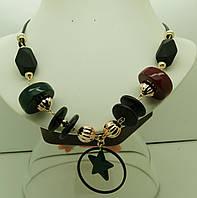 542 Винтажные украшения на шею,матовые бусы длиной 60 см опт.