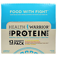 Health Warrior, Inc., Белковые батончики Chia Bars, ассорти 12 шт., 50 г каждый