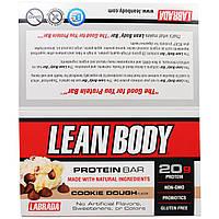 Labrada Nutrition, Стройное тело, белковые батончики со вкусом начинки для печенья, 12 батончиков по 2,54 унции (72 г)