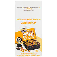 Lenny & Larrys, Muscle Brownie, Peanut Butter Brownie, 12 Brownies, 2.29 oz (65 g) Each