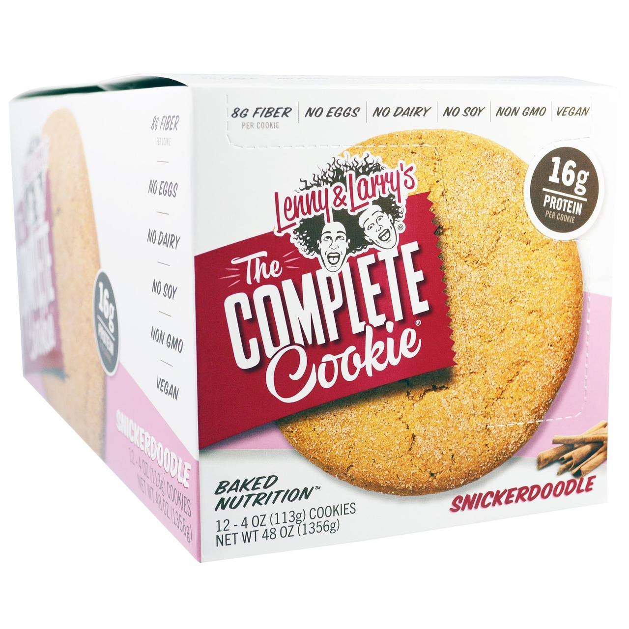 Lenny & Larrys, Полноценное печенье, Snickerdoodle, 12 шт., по 4 унции(113 г) каждое