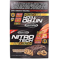 Muscletech, Nitro Tech Crunch Bars, Chocolate Chip Cookie Dough,12-2.29 oz (65g), Net Wt 1.72 lbs