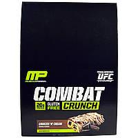 Muscle Pharm, Хрустящие батончики Combat с кремом, 12 батончиков по 2,22 унции (63 г)