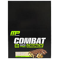 Muscle Pharm, Combat Crunch, Chocolate Chip Cookie Dough, 12 Bars, 26.67 oz (756 g)