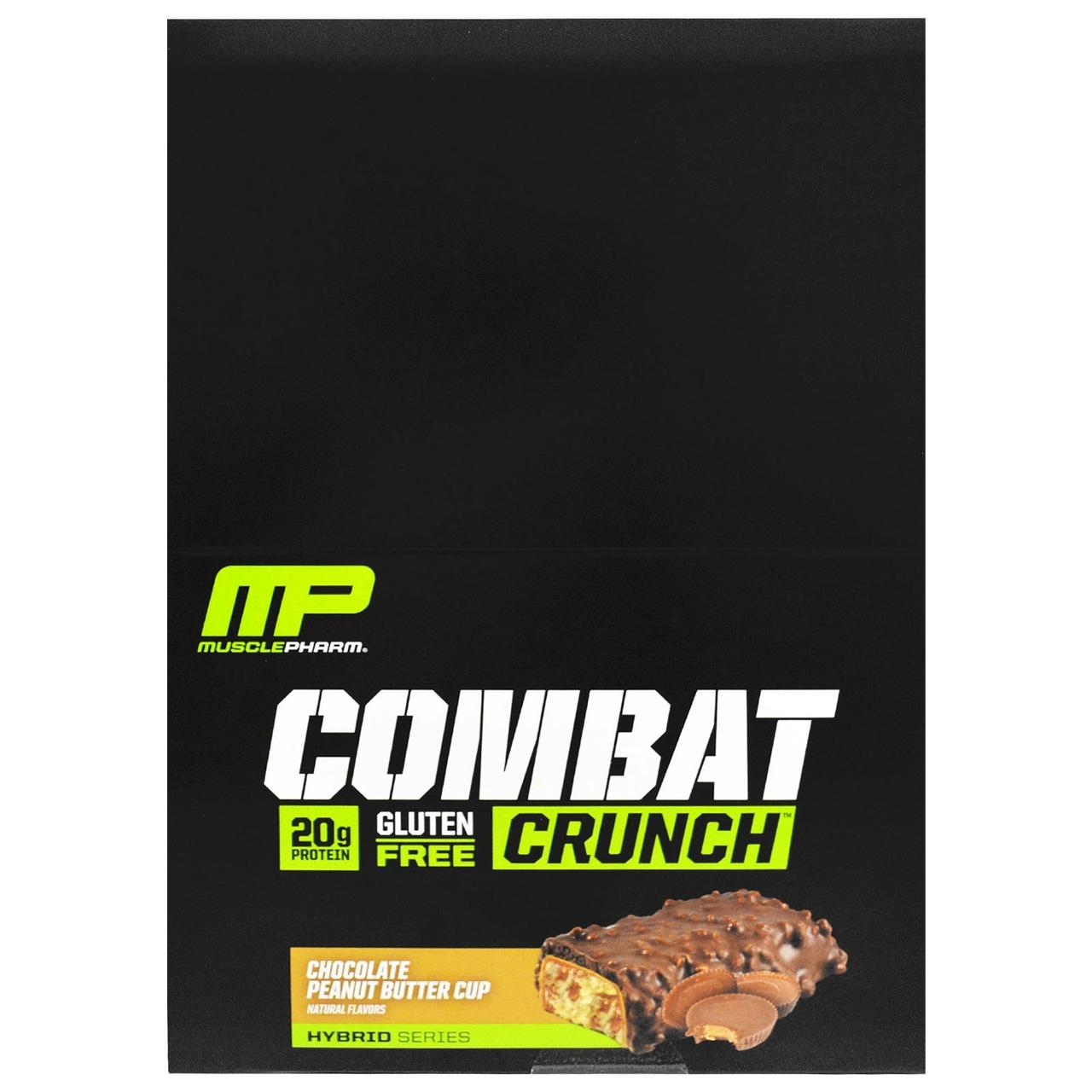 Muscle Pharm, Combat Crunch Bars, Chocolate Peanut Butter Cup, 12 Bars