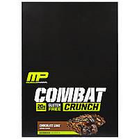 Muscle Pharm, Гибридные серии, Combat Crunch, Шоколадный торт, 12 баров, 2,22 унции (63 г) Каждый