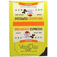 Natural Factors, ОвощеДень, органические батончики-снэки со вкусом утреннего эспрессо, 12 батончиков по 1,41 унции (40 г)