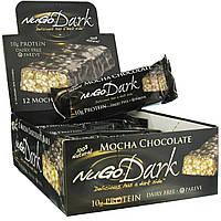 NuGo Nutrition, Батончики с темным шоколадом мокко, 12 батончиков по 1,76 унции (50 г)