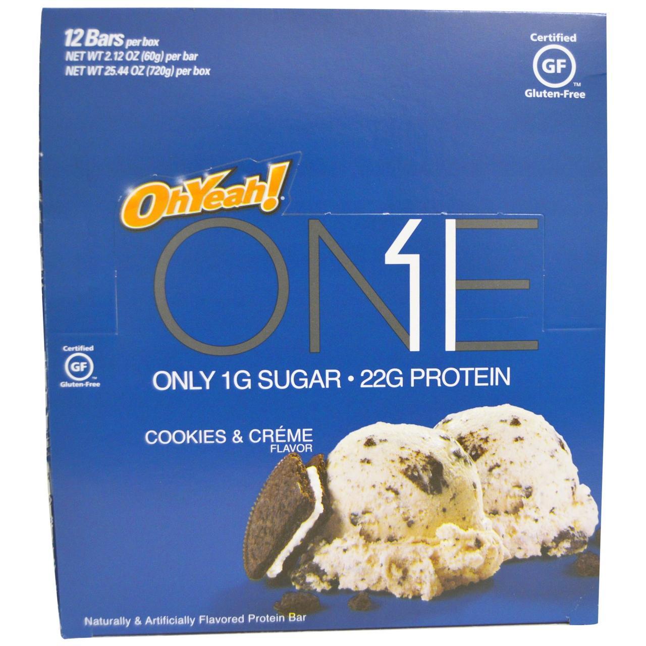 Oh Yeah!, One, печенье и кремовый аромат, 12 палочек, 2,12 унции (60 г) каждая