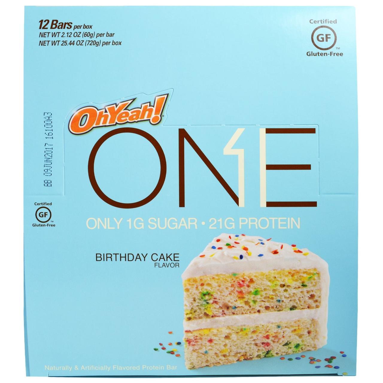Oh Yeah!, One, Birthday Cake, 12 Bars, 2.12 oz (60 g) Each