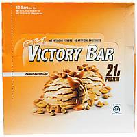 Oh Yeah!, Батончик Victory, с кусочками арахисового масла, 12 батончиков, по 2,29 унции (65 г) каждый