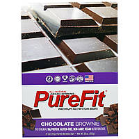 Pure Fit Bars, Premium Nutrition Bars, Chocolate Brownie Батончики, 15 штук по 2 унции (57 г) каждая