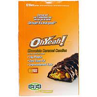 Oh Yeah!, Удачный выбор, Конфеты с шоколадом и карамелью, 12 батончиков, 1,59 унции (45 г)