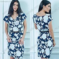 Женское платье Оливия с белыми цветами