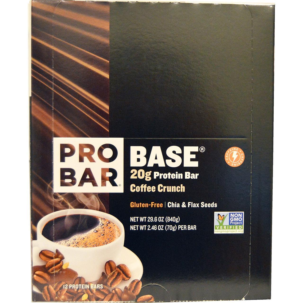 ProBar, Base, 20 g Protein Bar, Coffee Crunch, 12 - 2.46 oz (70 g) Each