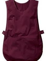 Фартук для уборщицы, униформа продавца, рабочая одежда, фартук-накидка горничной