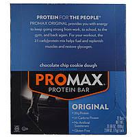 Promax Nutrition, Энергетические батончики со вкусом песочного печенья с шоколадной крошкой, 12 шт. по 75г каждый
