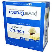 BNRG, Питательный хрустящий протеиновый энергетический батончик, с французским ванильным кремом, 12 батончиков, по 1,4 унции (40 гр) каждый
