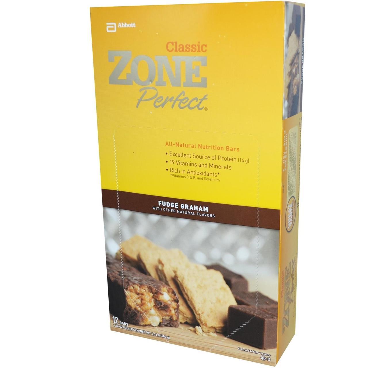 ZonePerfect, Классические полностью натуральные питательные батончики, Fudge Graham, 12 батончиков, 1,76 унции (50 г) каждый