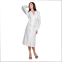 Халат медицинский женский, классический, белый