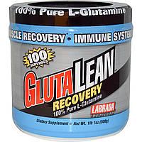 Labrada Nutrition, GlutaLean, восстановление, 100% чистый L-глутамин, 1 фунт 1 унция (500 г)