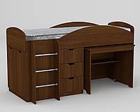 Кровать с матрасом ЭКО-52 Универсал орех экко Компанит (194х89х106 см)