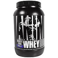 Universal Nutrition, Animal, сывороточный протеин для мышц, ваниль, 2 фунта (907 г)