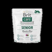 Brit Care Senior Lamb & Rice корм для пожилых собак, 1 кг