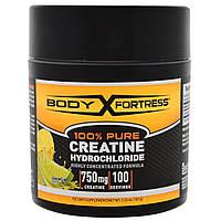 Body Fortress, На 100% чистый креатин гидрохлорид, лимон-лайм, 3,52 унции (100 г)