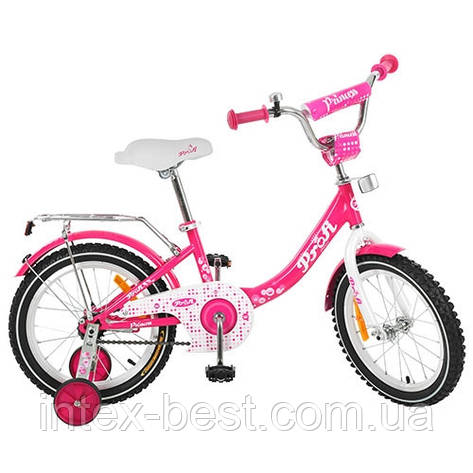 Детский двухколесный велосипед Profi Trike G1413 Princess (Малиновый), фото 2