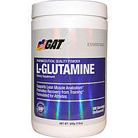 GAT, L-Глутамин, Без вкусовых добавок, 17,6 унции (500 г)