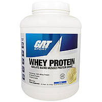 GAT, Изолят Сывороточного Протеина, Белковый Коктейль для Наращивания Мышечной Массы,Ваниль, 5 унций (2268 г)