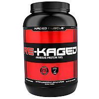 KagedMuscle, Re-Kaged, спортивное питание с анаболическим белком, со вкусом клубничного лимонада, 2,07 фунта (940 г)