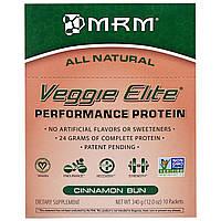 MRM, Элитные овощи, растительный белковый комплекс для высокой производительности со вкусом плюшек с корицей, 10 пакетов, 12,0 унции (340 г)