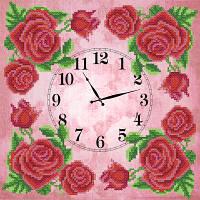 Схема для вышиви бисером Часы. Солнечные цветыЧасы. Королевская роза