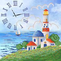 Схема для вышиви бисером Часы. Синее море