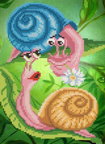 Схема для вышиви бисером Влюбленные улитки