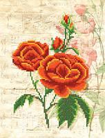 Схема для вышиви бисером Винтаж.Красные розы