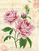 Схема для вышиви бисером Винтаж.Розовые розы