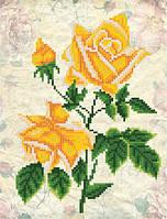 Схема для вышиви бисером Винтаж. Желтые розы