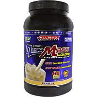 ALLMAX Nutrition, QuickMass Loaded, Rapid Mass Gain Catalyst, Vanilla, 53 oz (1.5 kg)