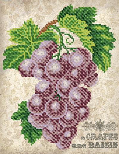 Схема для вышиви бисером Винтаж. Виноград
