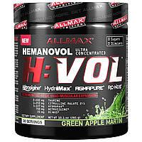 ALLMAX Nutrition, H: VOL, Hemanovol, мартини-зеленое яблоко, 10,1 унций (285 г)